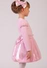 """Нарядная блузка розового цвета из велюра с длинным рукавом """"фонариком""""."""