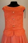 """Нарядное платье """"Инга"""" кораллового цвета."""