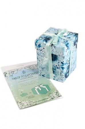 Новогодняя коробка для подарков с атласной лентой.Набор подарочной упаковки. Подарочная упаковка для аксессуаров, игрушек, вещей и подарков. Коробка сборная-разборная. Подробная схема сборки на обороте.