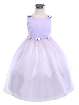 """Нарядное платье """"Гелена""""с цветочкамина поясе и на плечах.Пышное и нежное платье для настоящих модниц. Красивое платье идеально для праздника, вечеринки и фотосессий, а также идеально для свадьбы или другого торжества."""