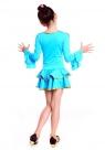 """Платье для танцев """"Кармелита"""" ярко-голубого цвета цвета."""